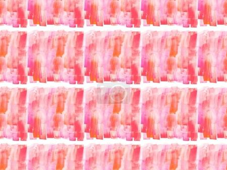 Photo for Seamless pattern with pink watercolor paint spots, isolated on white - Royalty Free Image