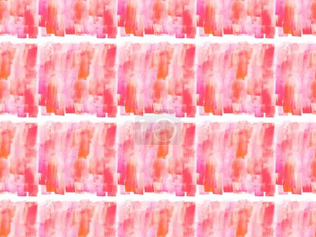 seamless pattern with pink watercolor paint spots, isolated on white