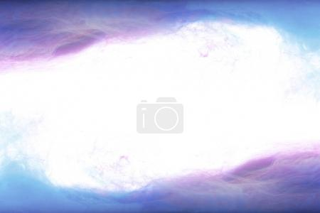 frame of blue and purple paint splashes, isolated on white