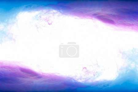 Photo for Frame of blue and purple paint splashes, isolated on white - Royalty Free Image