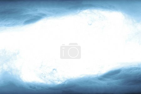 Photo for Frame of blue paint splashes, isolated on white - Royalty Free Image