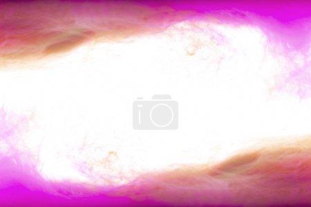 Photo for Frame of pink and orange paint splashes, isolated on white - Royalty Free Image