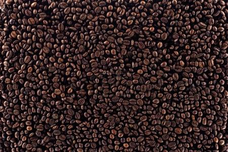 Photo for Full frame of aromatic roasted coffee beans background - Royalty Free Image