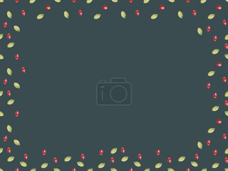 top view of frame of pomegranate and pumpkin seeds isolated on gray