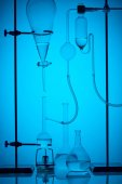 scientific analysis in modern laboratory on blue