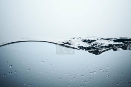 background with water splash and drops, isolated on white