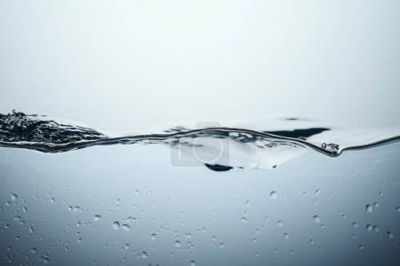 Photo pour Fond avec éclaboussures d'eau et gouttes, isolé sur blanc - image libre de droit