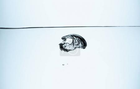 big bubble in clear water, isolated on white