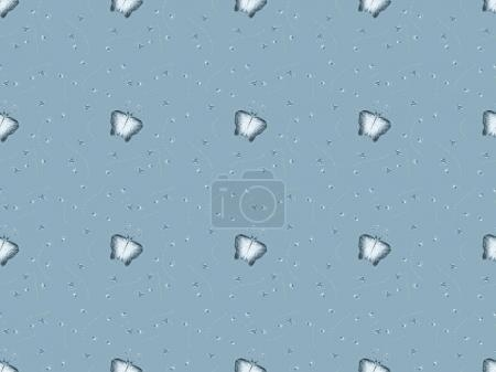 seamless texture with melting ice cubes, isolated on gray