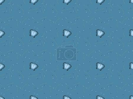 seamless texture with melting ice cubes, isolated on blue