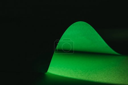 green warping paper for decoration on black