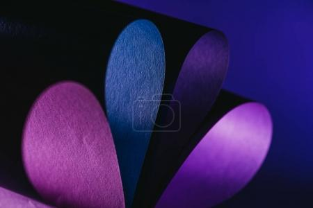 close up view of warping paper in shape of flower