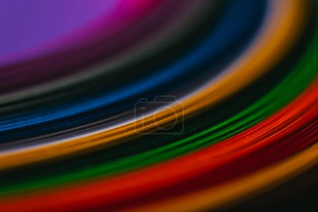 close up of colored quilling paper stripes