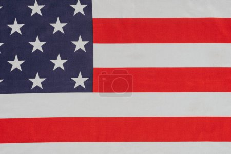 close up view of american flag, presidents day concept