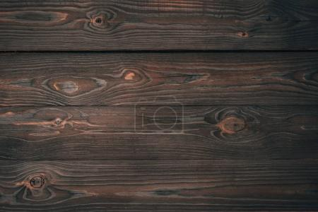 Photo for Top view of dark wooden planks, wooden background - Royalty Free Image