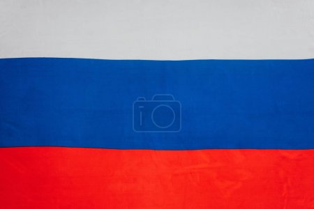 close up view of russian flag background