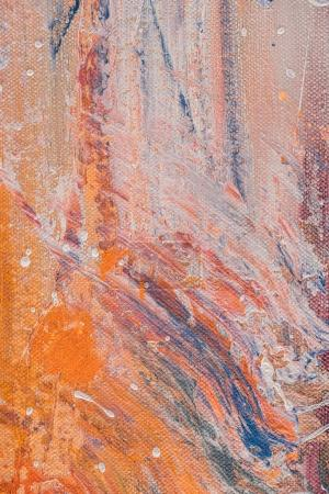 close up of abstract multicolor texture with acrylic splatters