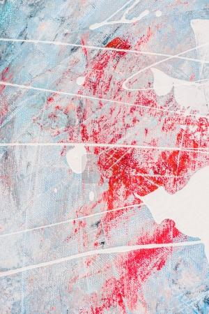 white oil paint splatters on abstract colorful background