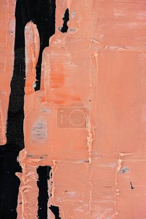 Photo pour Fond orange avec coups de pinceau de peinture à l'huile - image libre de droit