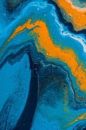 Photo pour Abstrait avec peinture à l'huile bleu - image libre de droit