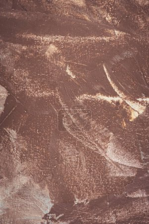 close up of brown brush strokes on abstract background