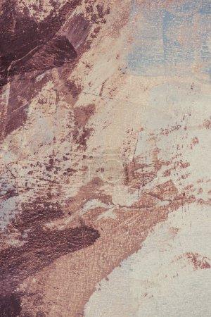 Foto de Trazos de pincel marrón en color beige pintura al óleo - Imagen libre de derechos