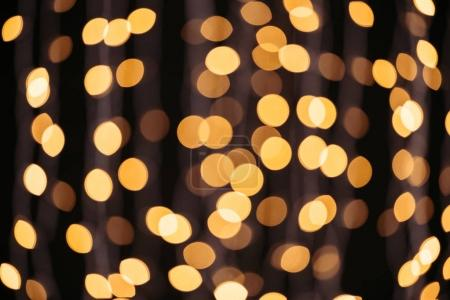 Photo for Abstract shining golden bokeh background - Royalty Free Image
