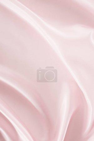 Photo pour Fond de tissu satin froissé rose clair - image libre de droit