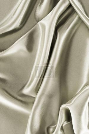 Photo for Metallic silver crumpled satin fabric background - Royalty Free Image