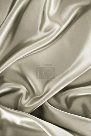 Photo pour Brillant métallique argent satiné fond de tissu - image libre de droit