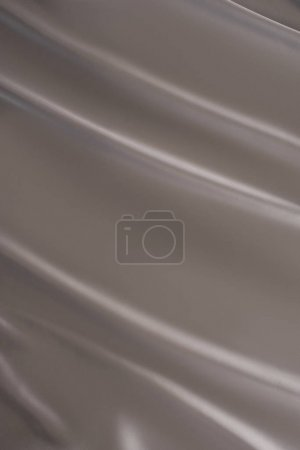 fond de tissu de satin brillant argent foncé