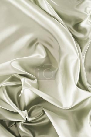 silver green shiny silk fabric background