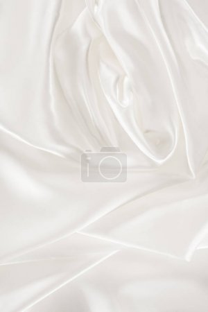 white soft shiny satin fabric background