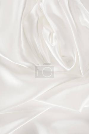Photo pour Fond blanc doux tissu satin brillant - image libre de droit