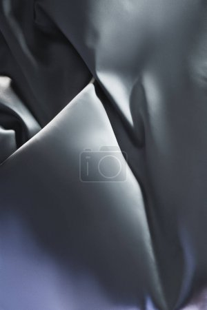 silver shiny silk fabric background
