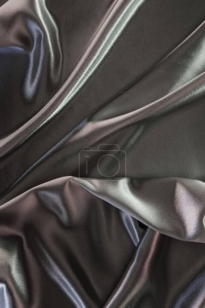 Green and silver elegant silk fabric background
