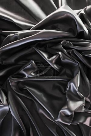 dark silver shiny silk fabric background