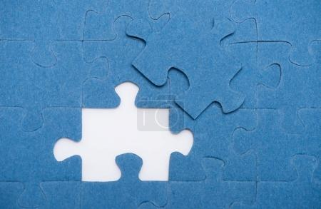 Photo for Top view of one puzzle missing, business concept - Royalty Free Image