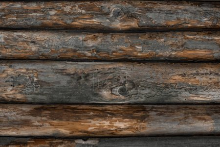 full frame of empty grunge wooden backdrop