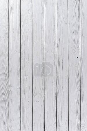 Wooden fence planks background painted in white