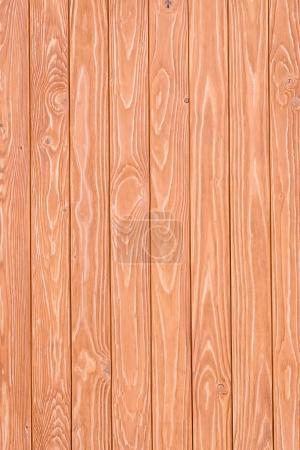 Wooden fence planks background painted in orange