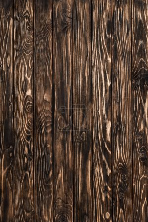 Photo for Rough background of detailed brown wooden planks surface - Royalty Free Image