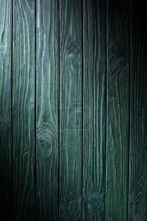 Photo pour Planches en bois peintes en fond vert - image libre de droit