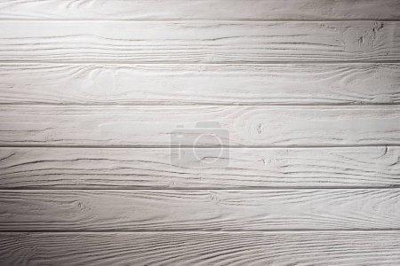 Photo pour Fond de planches de clôture en bois peint en blanc - image libre de droit