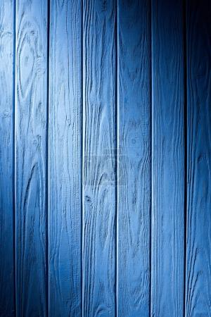 Photo for Wooden fence planks background painted in cyan - Royalty Free Image