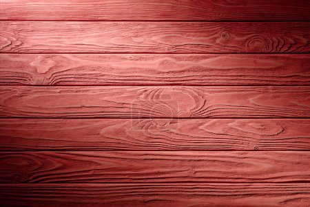 Photo for Carpentry template with red wooden planks - Royalty Free Image