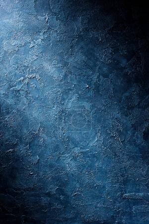 Photo for Rough textured blue wall background - Royalty Free Image