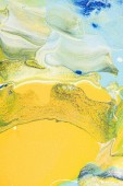 Abstract texture with yellow and blue oil painting