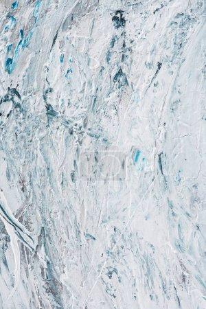 Foto de Experiencia artística con luz azul y blanco pinceladas de pintura de aceite - Imagen libre de derechos