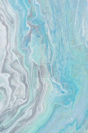 close up of abstract design with light blue acrylic paint